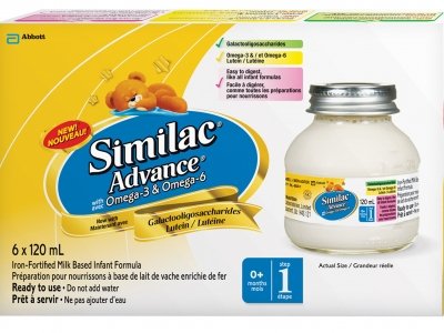 Similac Advance with Omega-3 and Omega-6 液体奶