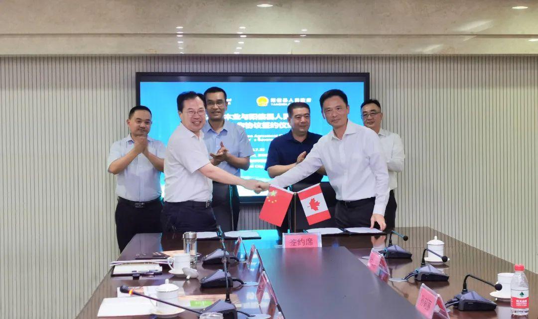 加拿年夜木业与山东省滨州市阳信县当局签署策